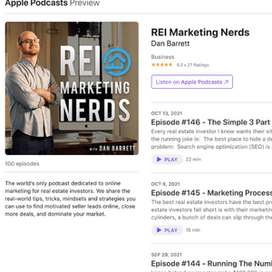 the REI Marketing Nerds Podcast - over 40k downloads